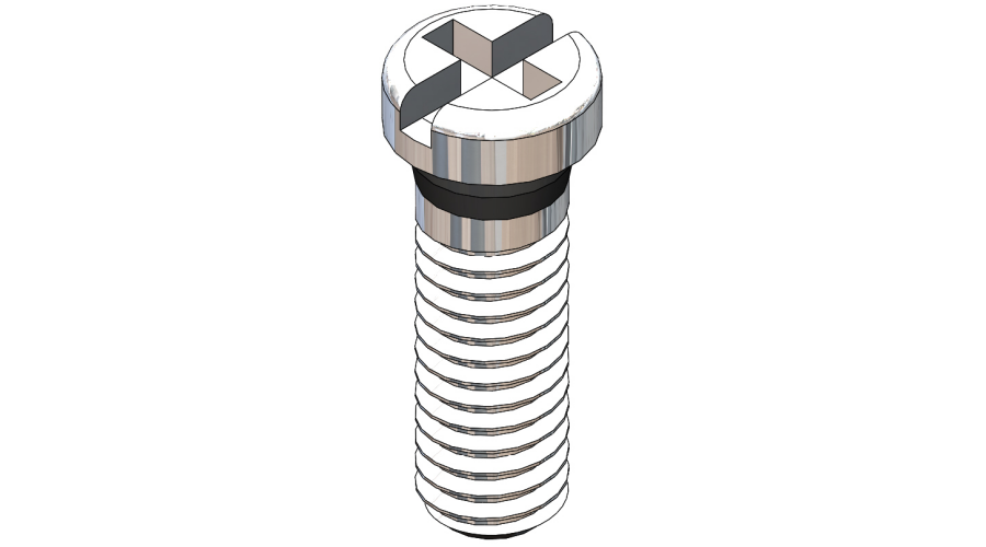 Eyewire Screw Length 5.0mm, Silver, 25 Pcs.