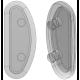 15mm, Clear - 5 Pair