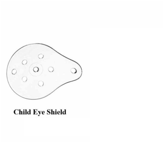 Standard Clear Universal Eye Shield Child Size Each