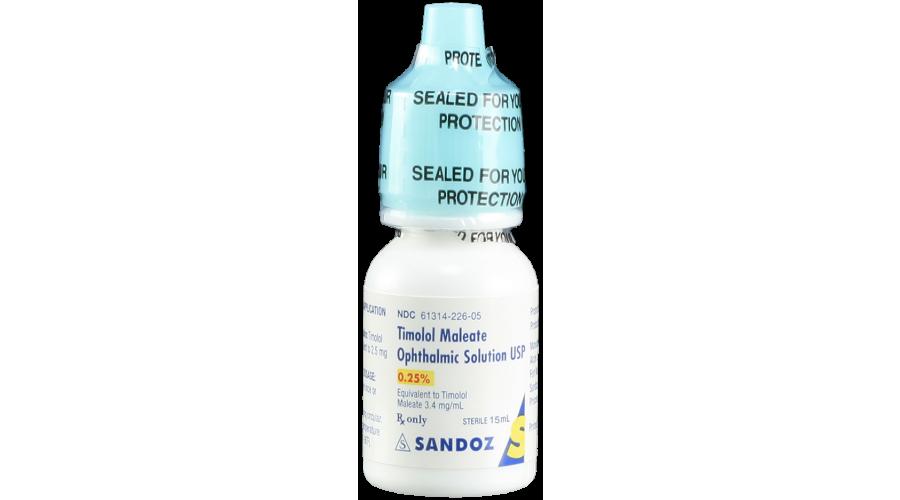TIMOLOL MALEATE 0.25% OPH SOLN 15 ML