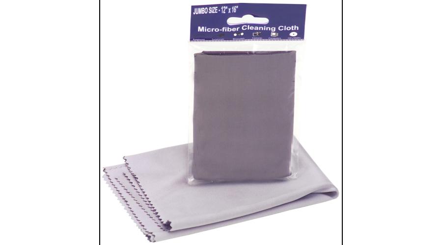 Jumbo Microfiber Cloth 3 Pack, 12X16,std,gray