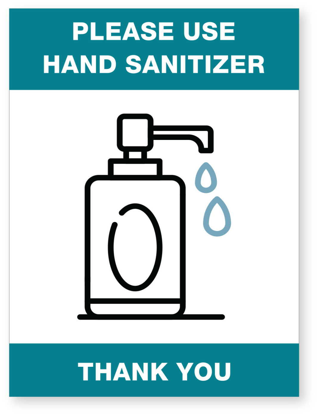 Sanitizer Ready Made Sign Ea