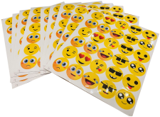 Emoticon Sticker Roll 4/Pack