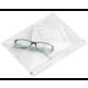 Rx Job Bags Zippered Clear - 20Pcs