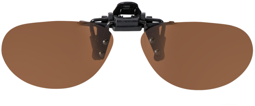 Flip-Up Narrow Aviator Brown Polarized 56-12