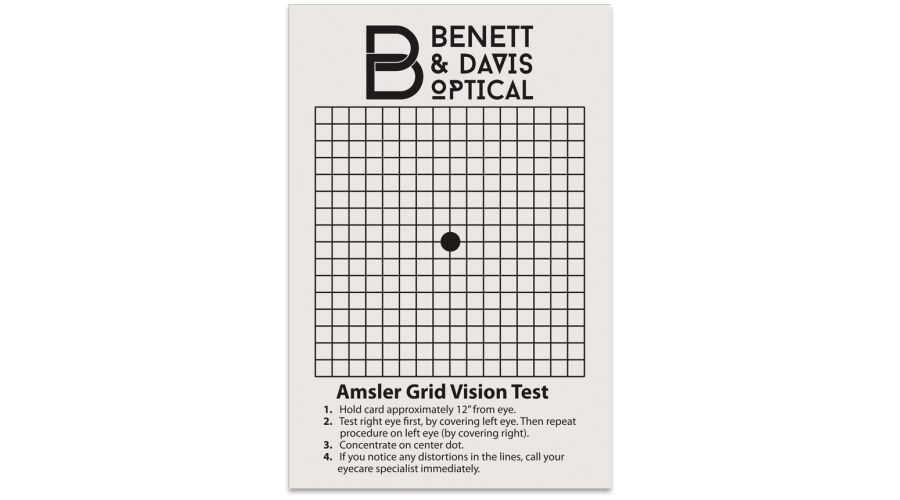 """4"""" X 5.25"""" PERSONALIZED AMSLER GRID CARD"""