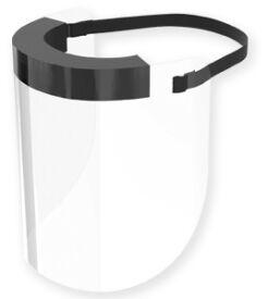 Disposable Full Face Shield Elastic Strap Ea