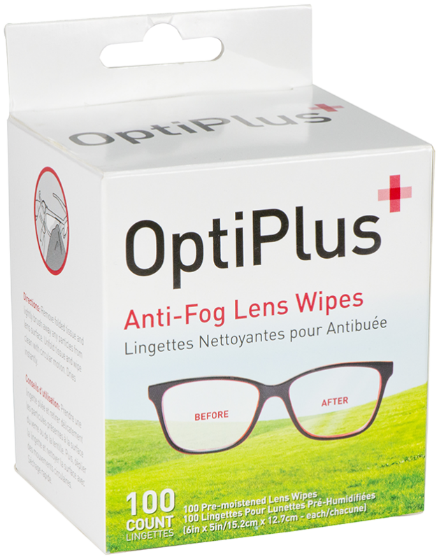 Optiplus 100 Ct Anti-Fog Wipes