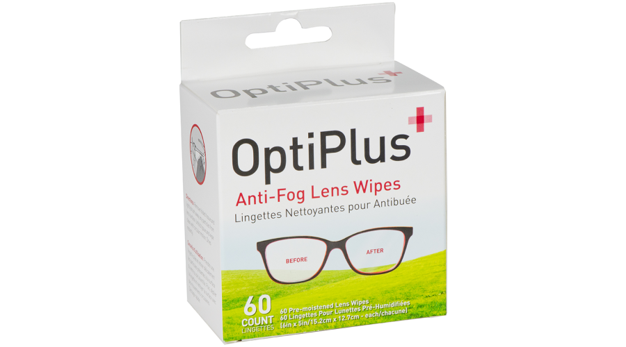 Optiplus 60 Ct Anti-Fog Wipes