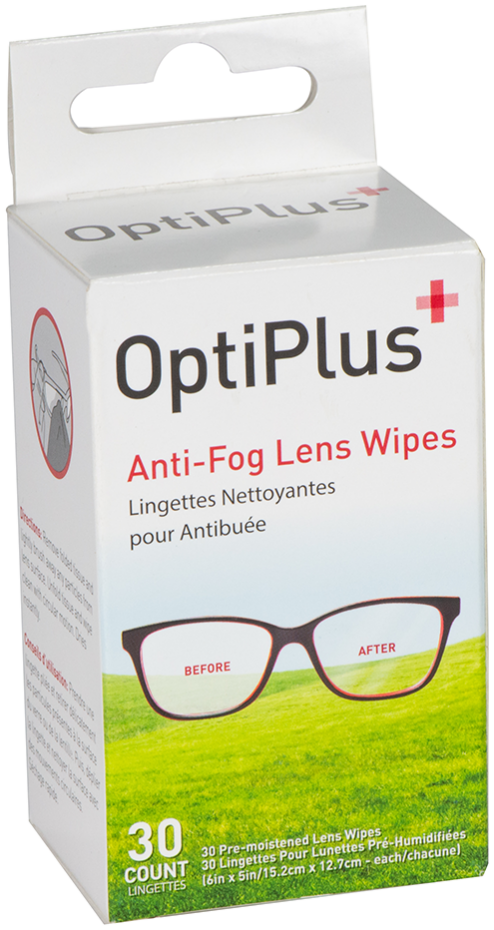 Optiplus 30 Ct Anti-Fog Wipes