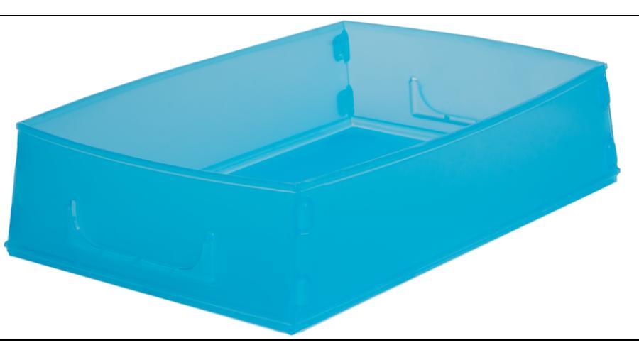 LITE BLUE FLAT PACK RX JOB TRAYS - 10PCS