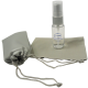 Clear Bottle/Gray Pump, Platinum Cloth – Silk Screen
