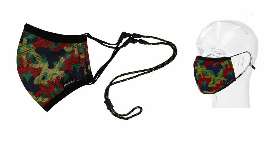 Croakies Mask Camo Rasta Terra System Combo Reg/Xl