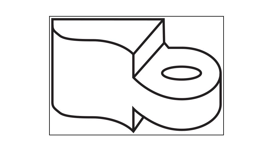 "Solder Hinge – Male, .045"", 3bbl Front - 5 Pair"
