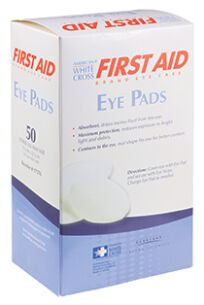 White Cross First Aid Sterile Oval Eye Pads