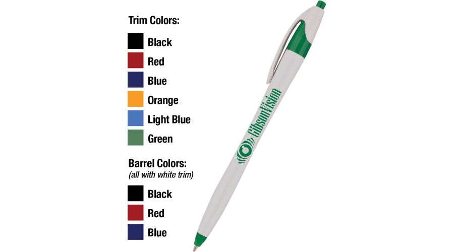 ARCHER II PEN WITH A 1 COLOR PERSONALIZED IMPRINT ON THE WHI