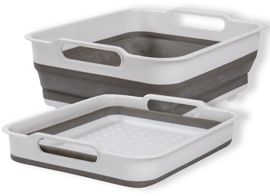 collapsible wash basin grey
