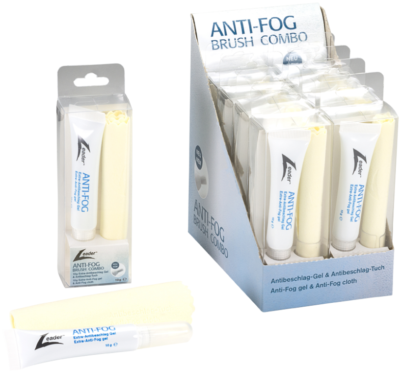 Leader Extra Anti-Fog 10g Brush Combo Kit Box of 10