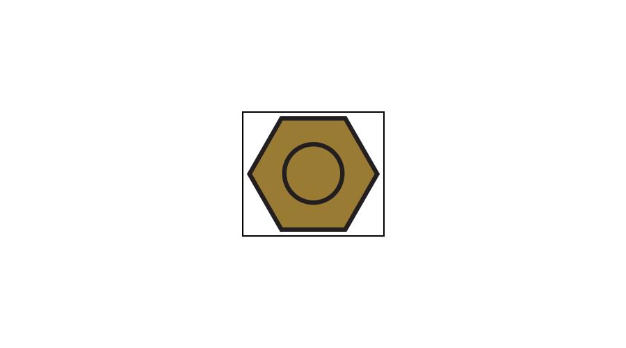 Dura-Tec Hex Nuts 1.16mm, Gold - 250 Pcs.