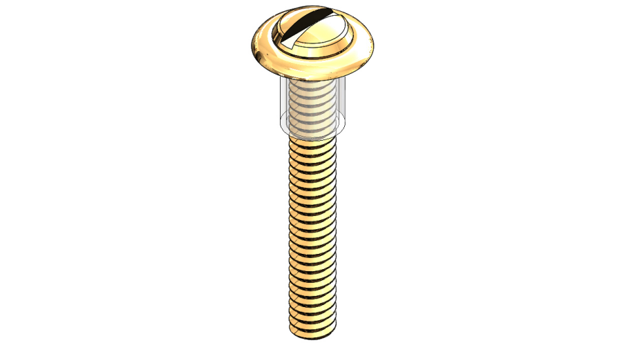 Lens Screw, Gold, 250 Pcs. (slot)