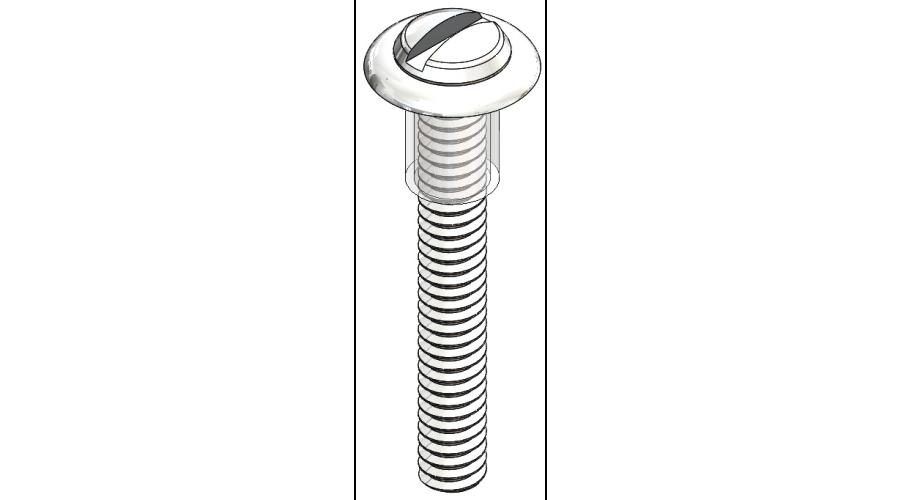 Lens Screw, Silver, 250 Pcs. (slot)