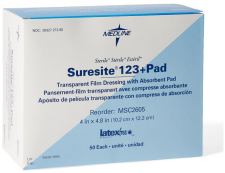 Medline Suresite® 123+Pad Transparent Dressing