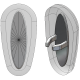 20mm, Symmetrical, Silver - 5 Pair