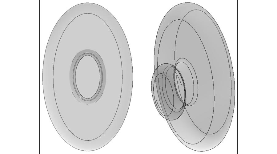 12mm, Clear - 5 Pair