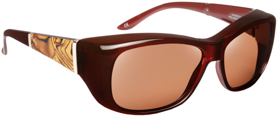 Haven: Signature Morgan Mop Merlot Red Brown Lens