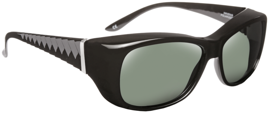 Haven: Signature Morgan Chevron Black Gray Lens