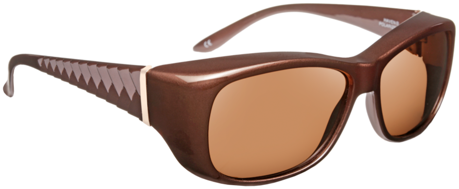 Haven: Signature Morgan Chevron Mocha Brown Lens