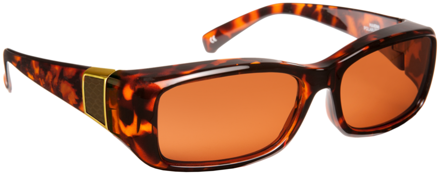 Freesia - Rect Faux Leather Matte Tortoise Brown