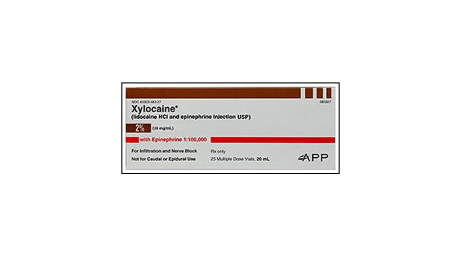 XYLOCAINE WTH EPI 2% MDV 25X20ML NDC 63323-0483-27 (3223625)