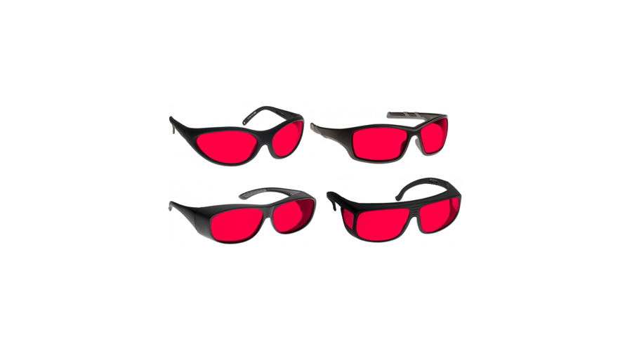 Noir Wraparound Red Glasses Argon/ktp Lasers