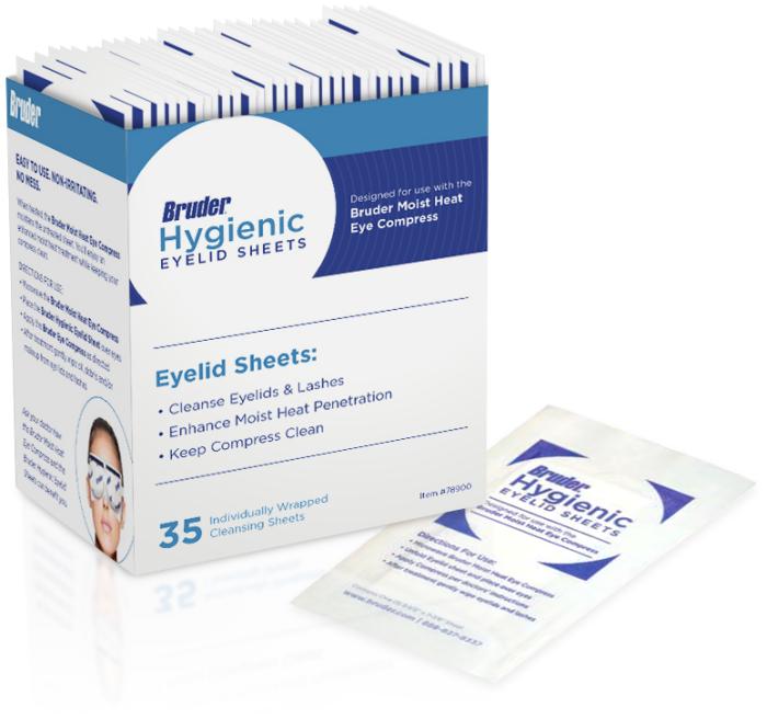 Bruder Hygienic Eyelid Sheets 35/bx