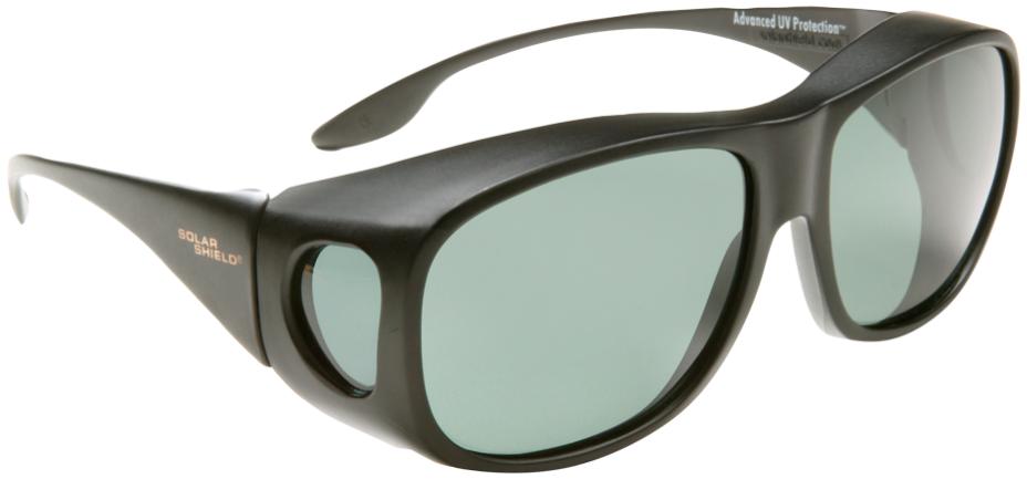 Square - Black Frame, Gray Lens