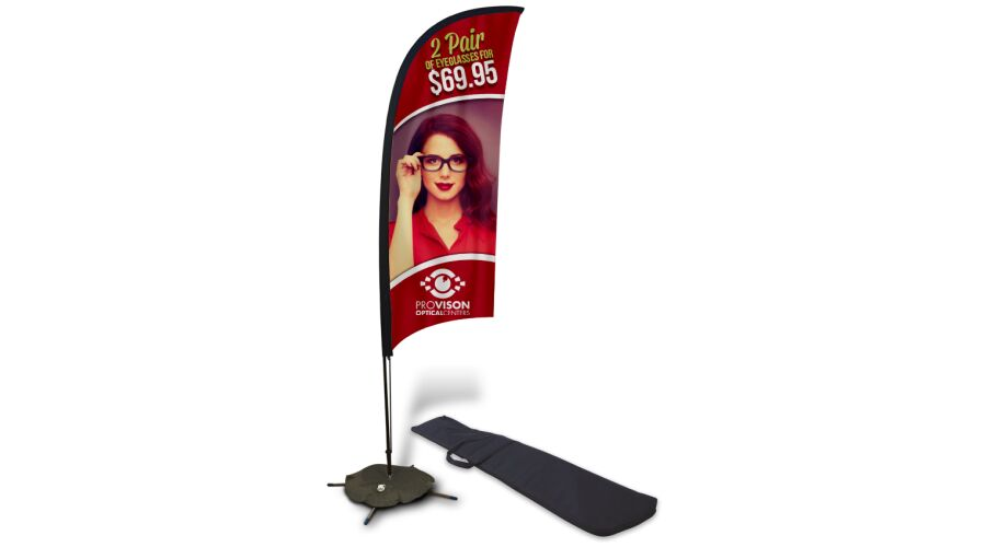 9 FT FEATHER FLAG WITH SCISSOR BASE