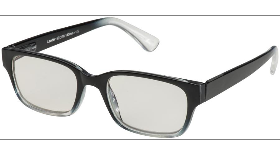 BLU-BAN GLASSES 4505 BLACK FADE +2.00