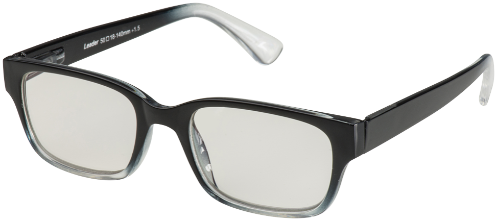 Blu-Ban Glasses 4505 Hintz Black Fade Plano