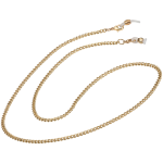 Small Curb Fashion Chain, Gold
