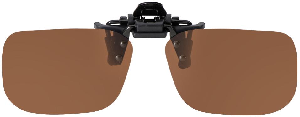 Flip-Up Narrow Rectangle Brown Polarized 54-12