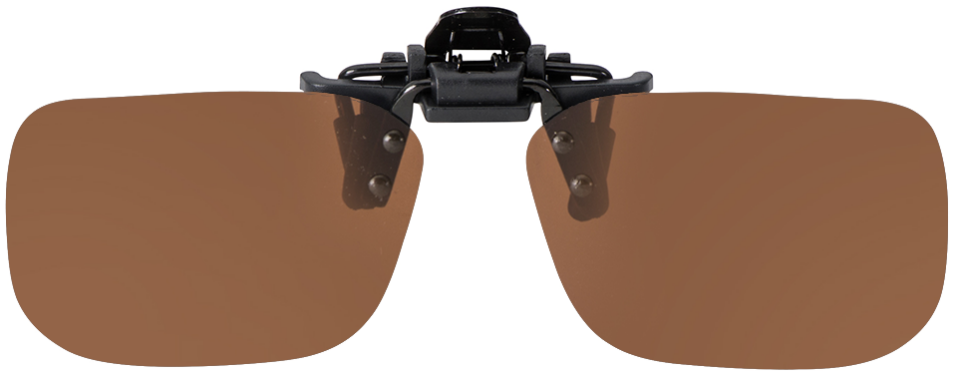 Flip-Up Shallow Rectangle Brown Polarized 52-12