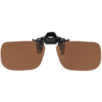 Flip-Up Rectangle Brown Polarized 52-12