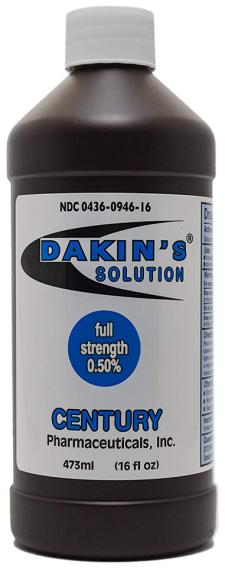 Dakin 0.5% Antiseptic Topical Soluton