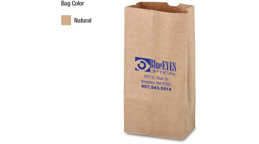 """5"""" x 9.625"""" x 3.125"""" SQUARE BOTTOM BAG"""