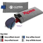 Eyeglasses / Sunglasses Pouch With Color Accent