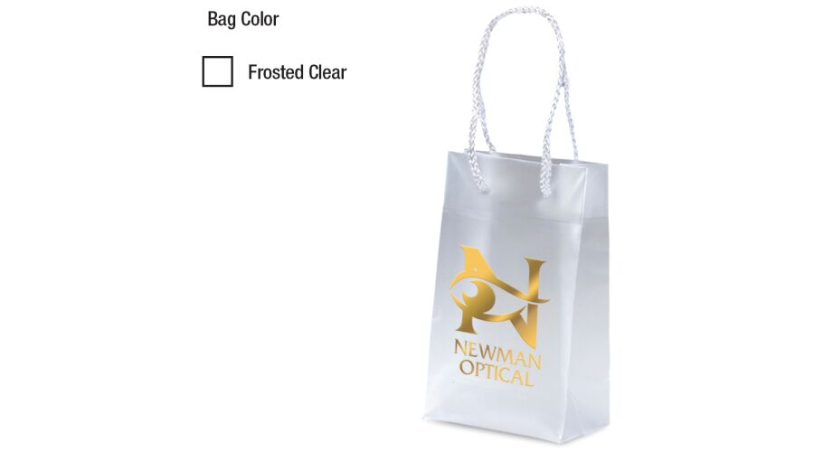 """5"""" X 8"""" PERSONALIZED FROSTED EURO TOTE"""