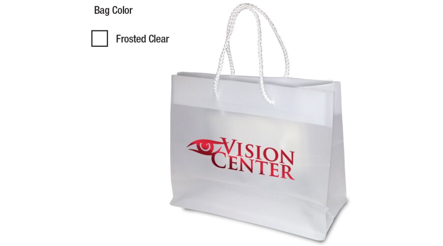 """10"""" X 8"""" PERSONALIZED FROSTED EURO TOTE"""