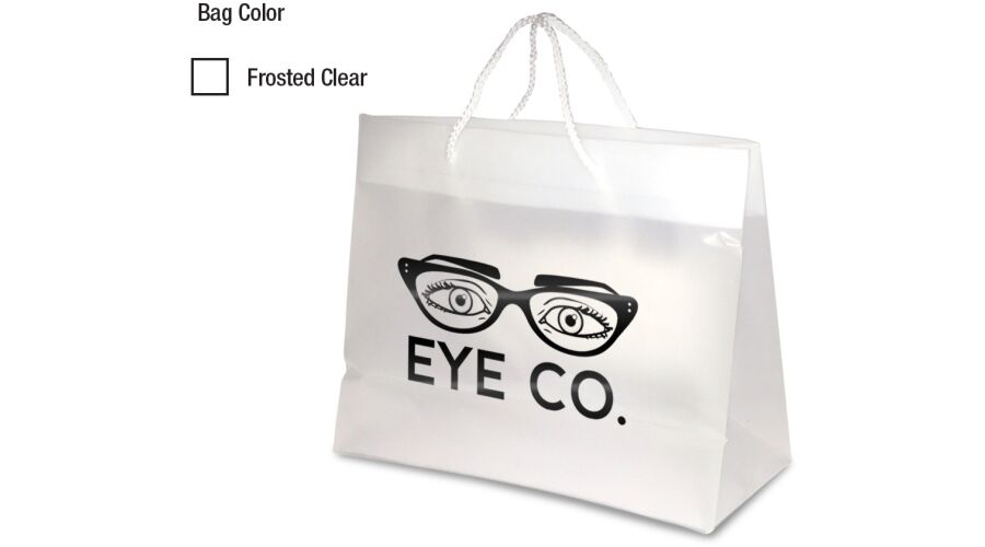 """13"""" X 10"""" PERSONALIZED FROSTED EURO TOTE"""