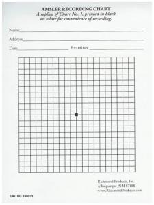 Amsler Scoring Chart Pad